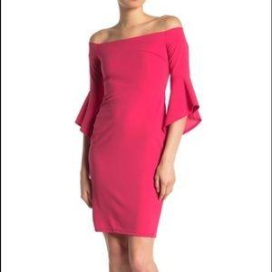 Off shoulder dress 10 Pink